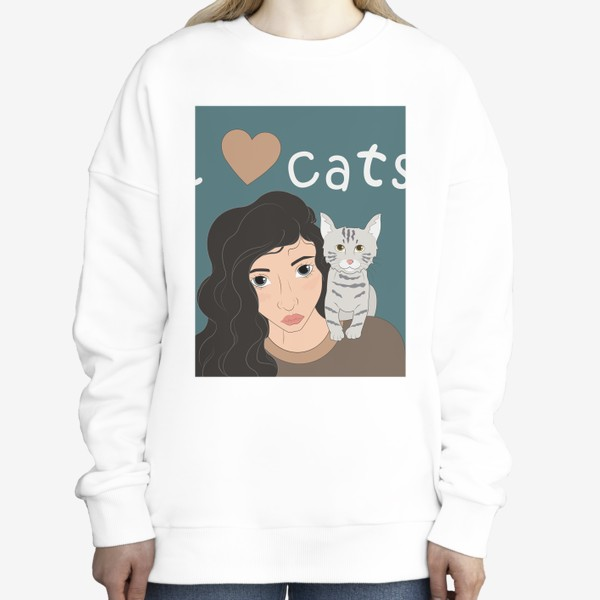 Свитшот «I love cats»