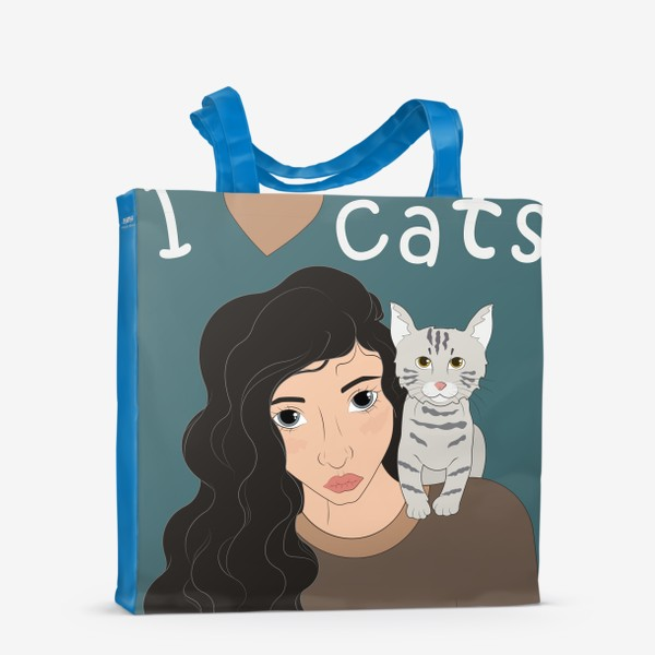 Сумка-шоппер «I love cats»