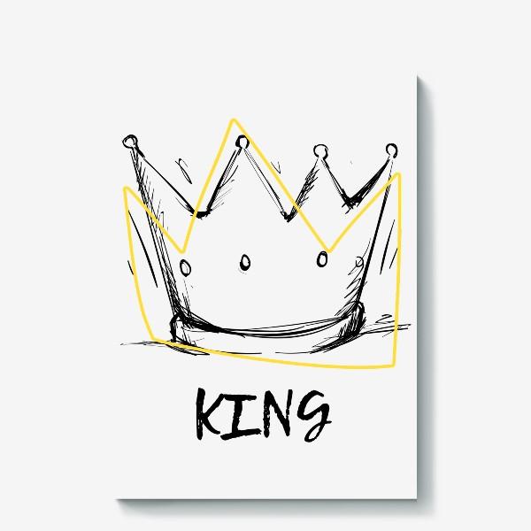 Холст «KING/Король»