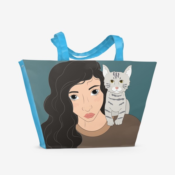 Пляжная сумка «I love cats»