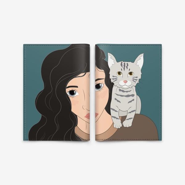 Обложка для паспорта «I love cats»