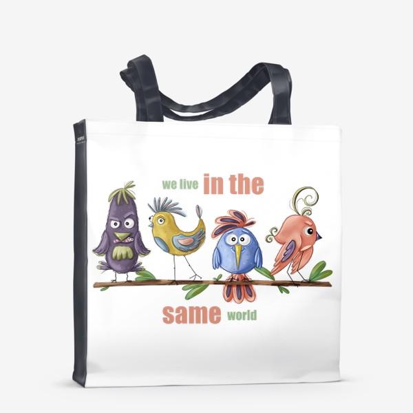 Сумка-шоппер «Веселые птички»