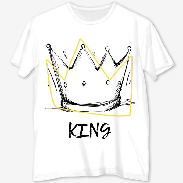 Футболка с полной запечаткой «KING/Король»