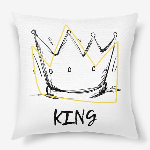Подушка «KING/Король»