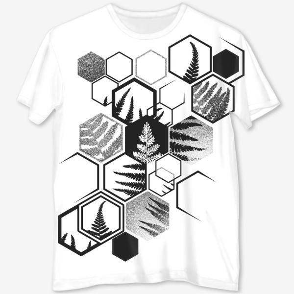 Футболка с полной запечаткой «Hexagonal Fern»