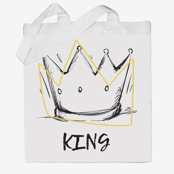 Сумка хб «KING/Король»