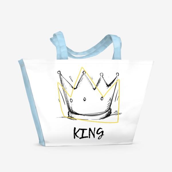 Пляжная сумка «KING/Король»