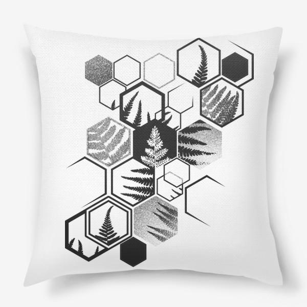 Подушка «Hexagonal Fern»