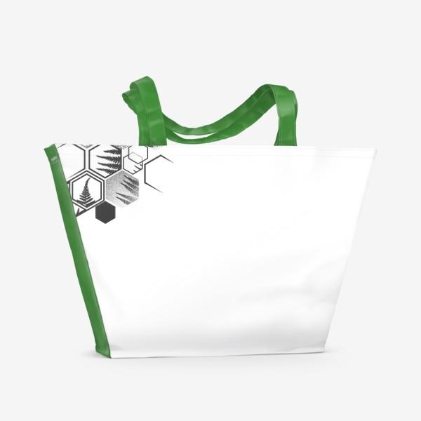 Пляжная сумка «Hexagonal Fern»