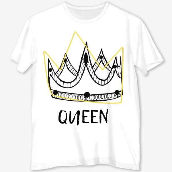 Футболка с полной запечаткой «QUEEN/Королева»
