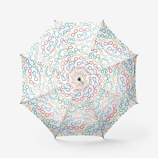 Зонт «Паттерн с очками»