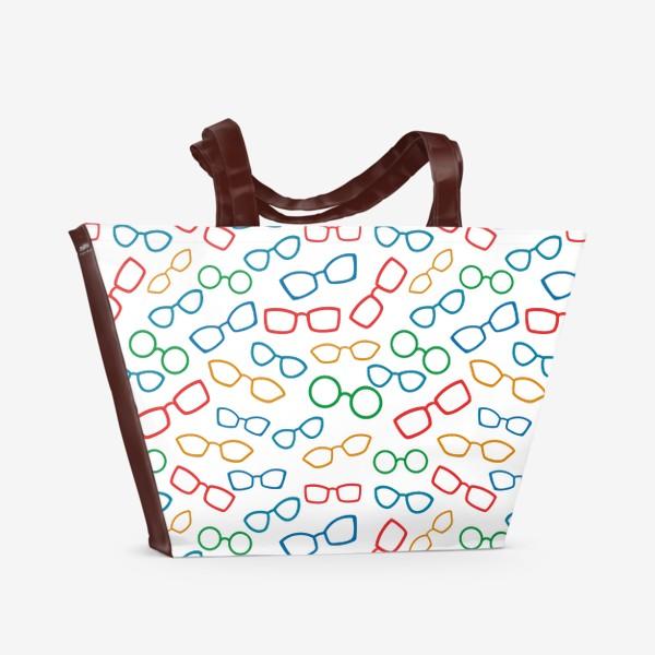Пляжная сумка «Паттерн с очками»