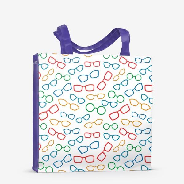 Сумка-шоппер «Паттерн с очками»
