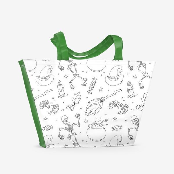 Пляжная сумка «хэллоуин»