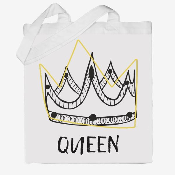 Сумка хб «QUEEN/Королева»