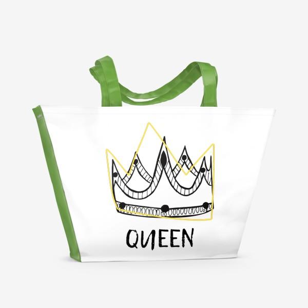 Пляжная сумка «QUEEN/Королева»