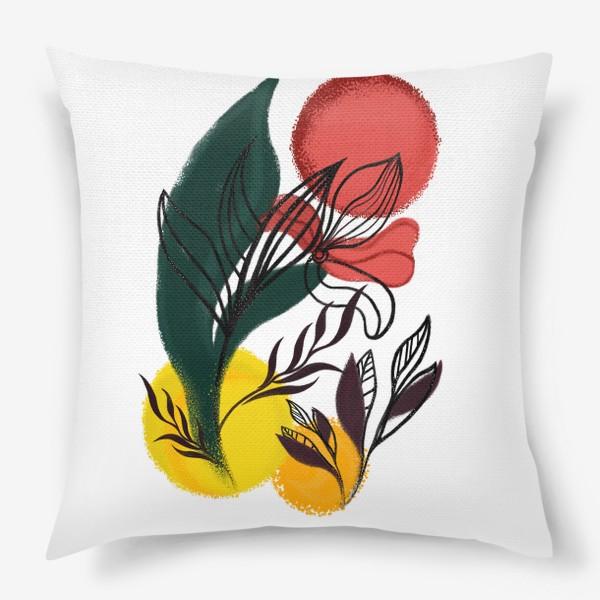 Подушка «Абстракция. Линии и цвет.»