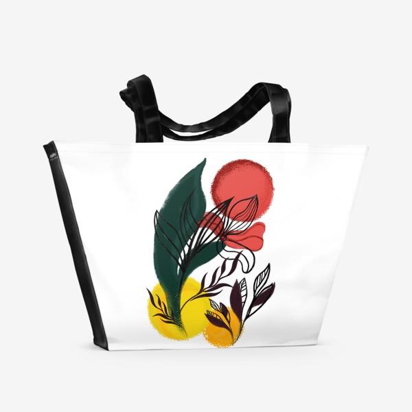 Пляжная сумка «Абстракция. Линии и цвет.»