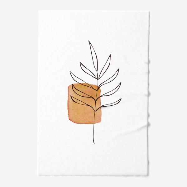 Полотенце «Абстракция. Оранжевая акварель, ветвь»