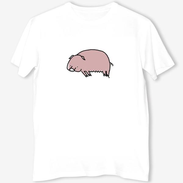 Футболка «Свинка лежит на боку»