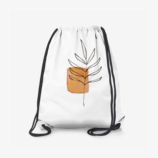 Рюкзак «Абстракция. Оранжевая акварель, ветвь»