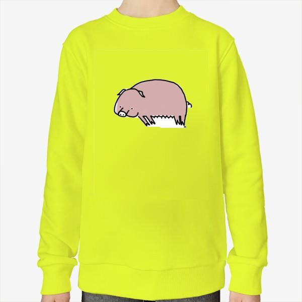 Свитшот «Свинка лежит на боку»