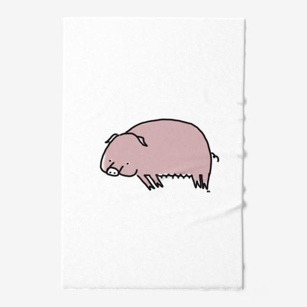 Полотенце «Свинка лежит на боку»