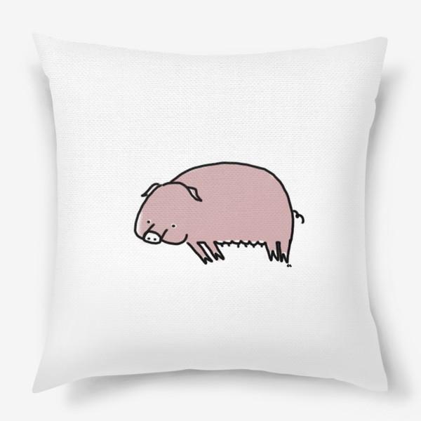 Подушка «Свинка лежит на боку»