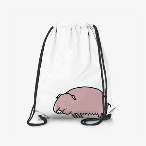 Рюкзак «Свинка лежит на боку»