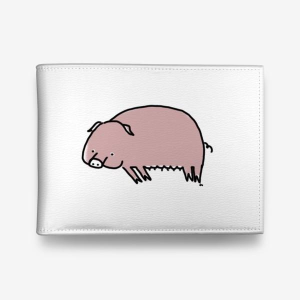 Кошелек «Свинка лежит на боку»