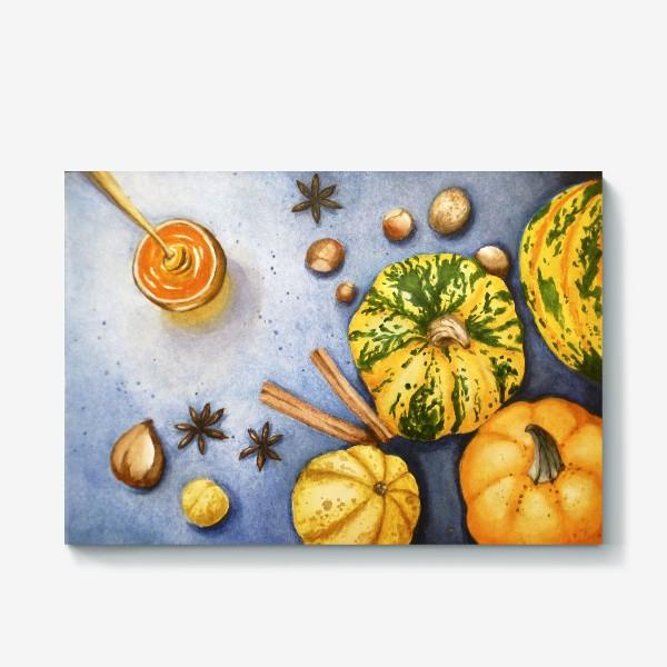Холст «Осенний натюрморт - тыквы»