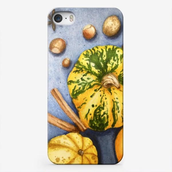 Чехол iPhone «Осенний натюрморт - тыквы»