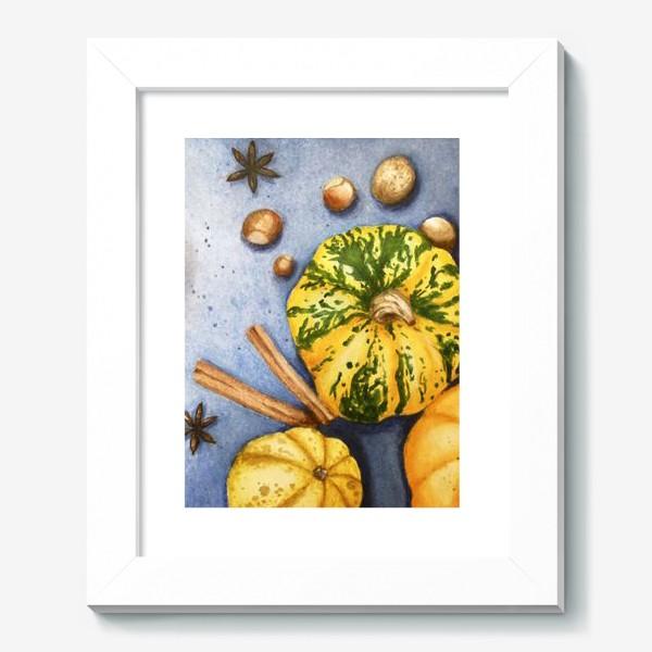 Картина «Осенний натюрморт - тыквы»