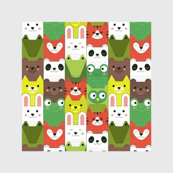 Шторы «Детский  зоо принт - геометричные звери»