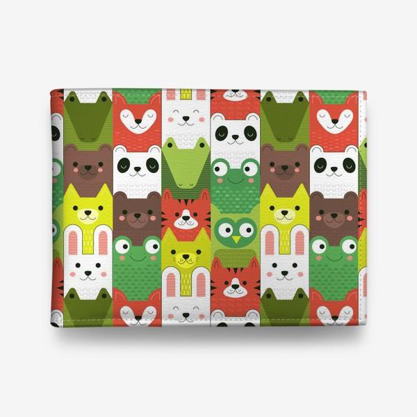Кошелек «Детский  зоо принт - геометричные звери»