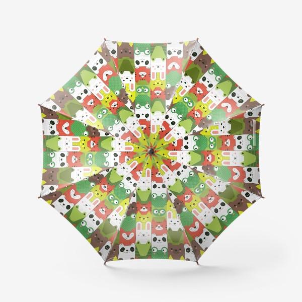 Зонт «Детский  зоо принт - геометричные звери»