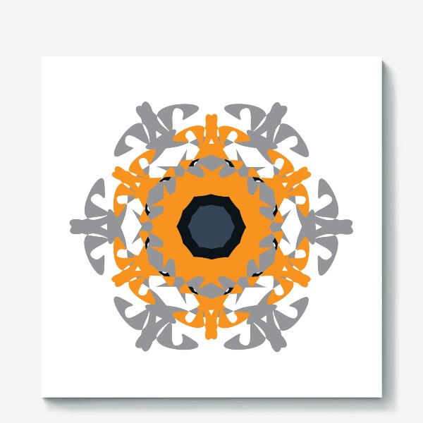 Холст «Орнамент оранжевый »