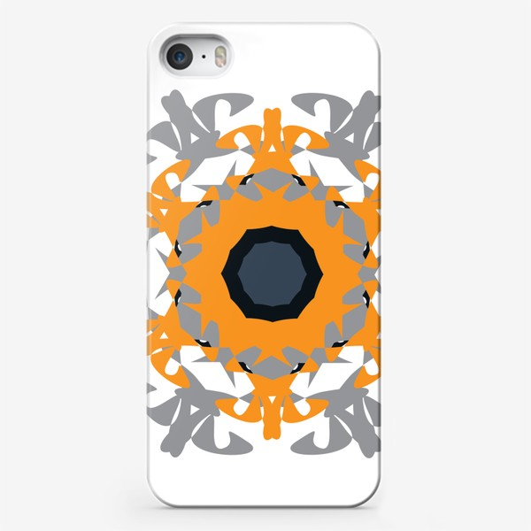 Чехол iPhone «Орнамент оранжевый »
