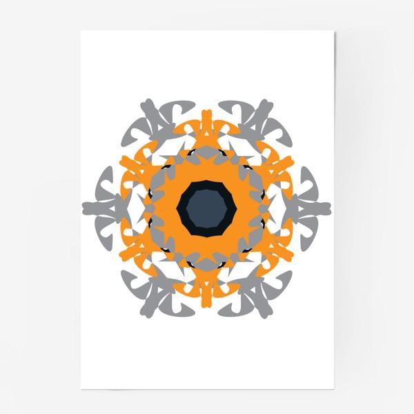 Постер «Орнамент оранжевый »