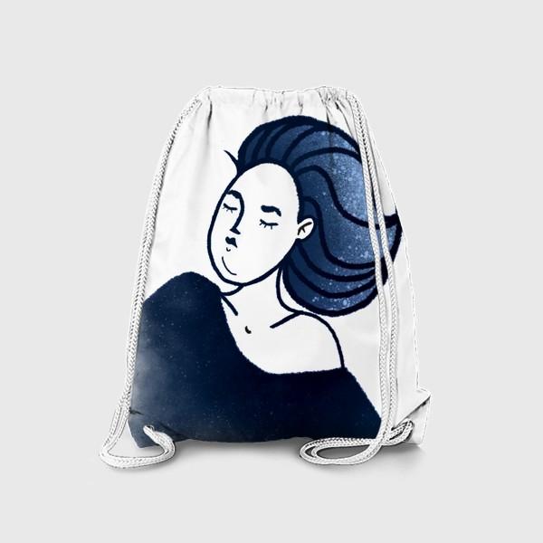 Рюкзак «Звёзды ночь синее женщина»