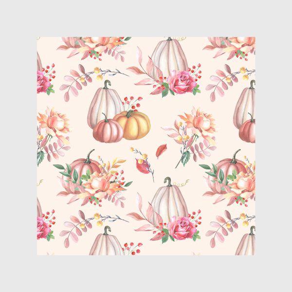 Скатерть «Осенние тыквы и розы»