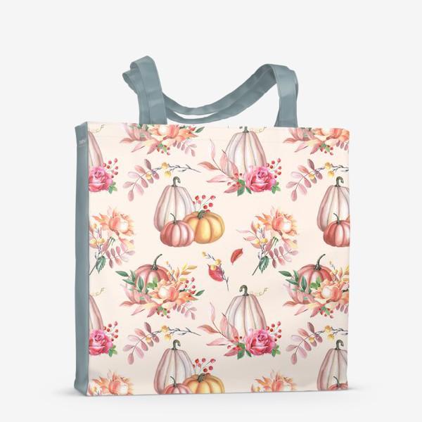 Сумка-шоппер «Осенние тыквы и розы»