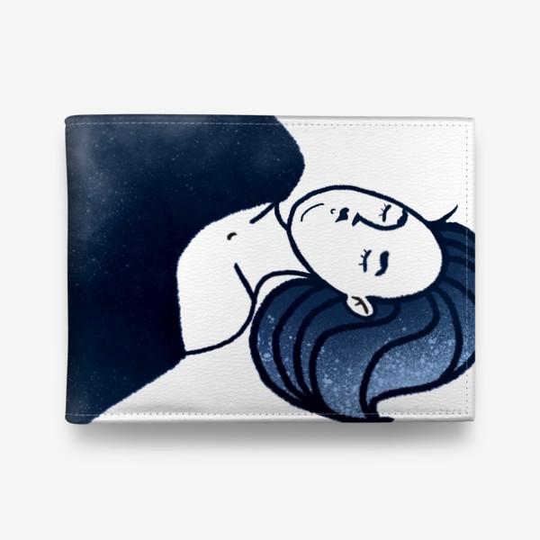 Кошелек «Звёзды ночь синее женщина»