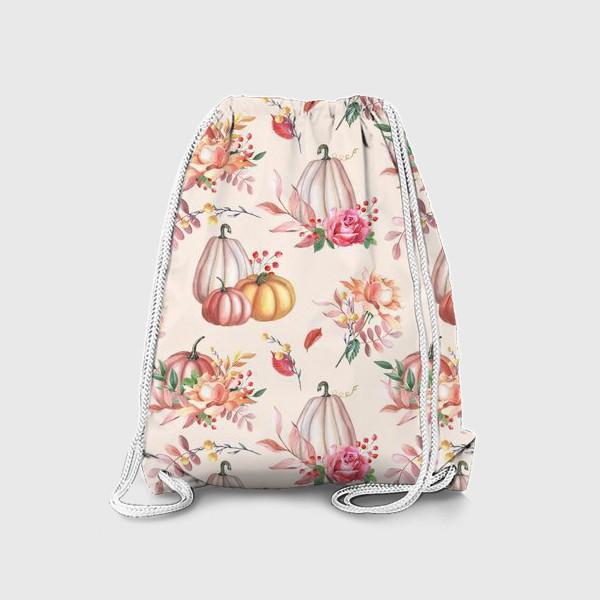 Рюкзак «Осенние тыквы и розы»