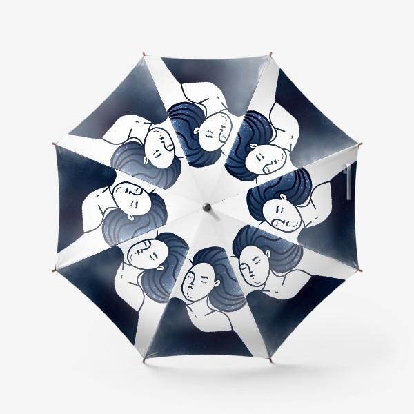 Зонт «Звёзды ночь синее женщина»
