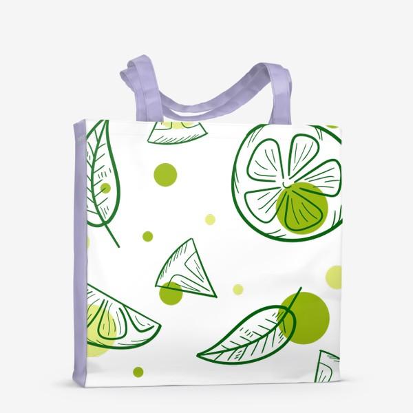 Сумка-шоппер «Зеленый чай с бергамотом»