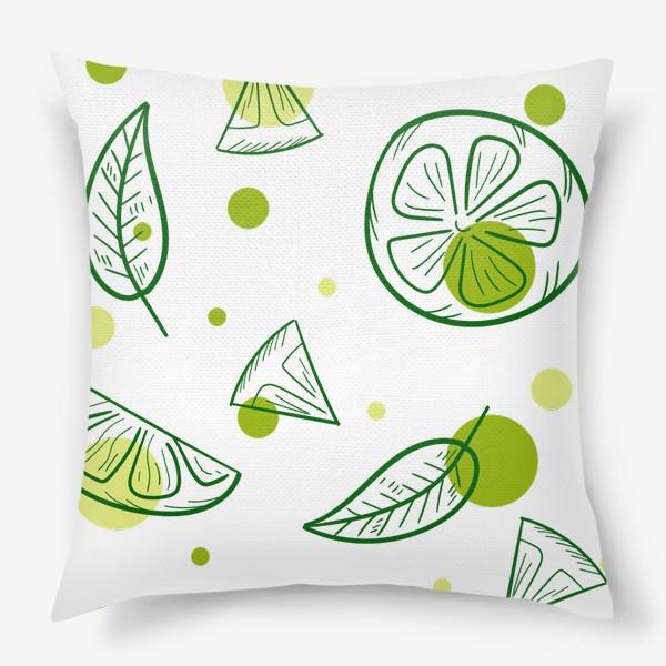 Подушка «Зеленый чай с бергамотом»