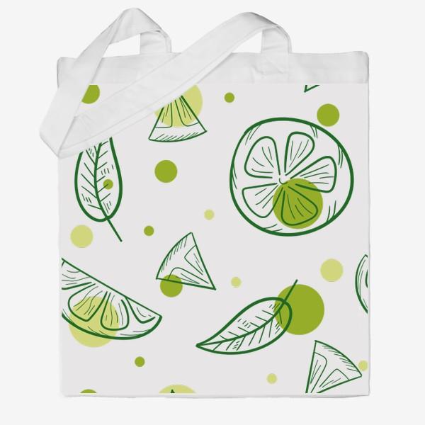 Сумка хб «Зеленый чай с бергамотом»
