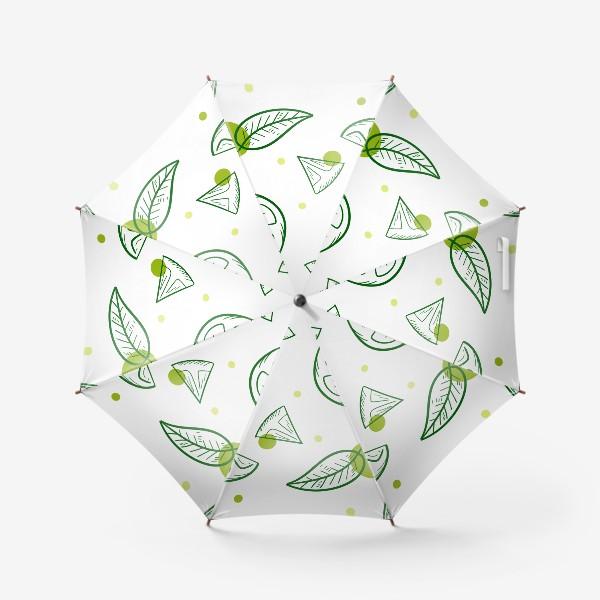 Зонт «Зеленый чай с бергамотом»