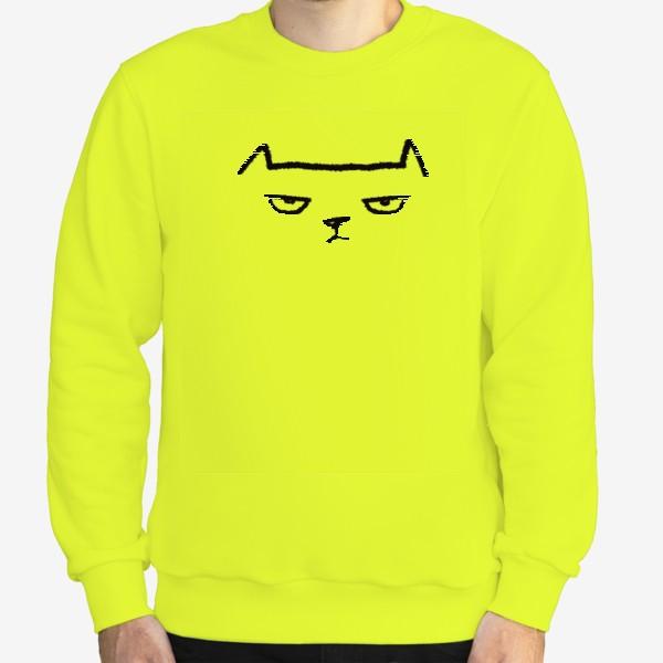 Свитшот «Кот недовольный»